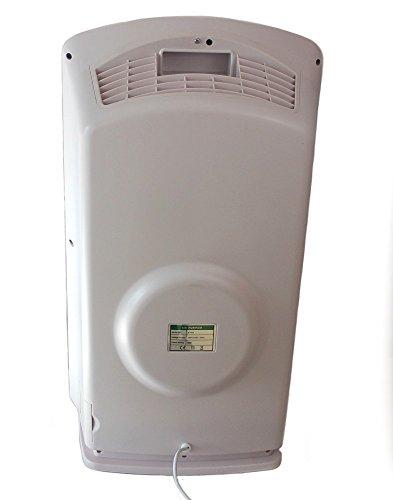 Baren B-H03 Luftreiniger, perlweiß, sehr leise mit HEPA-Filter, PM2.5 Feinstaubsensor, Ionisator, Aktivkohle, Fotokatalyse, UV-Licht, Ozonreinigung und Nacht-Funktion, ideal für Allergiker - 5