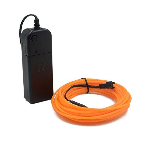 aht Hohe Helligkeit Elektrolumineszenz Draht mit Batterie Pack Treiber für Party Dekoration und DIY, 16ft / 5 mt Multi Farbe EL Draht ()
