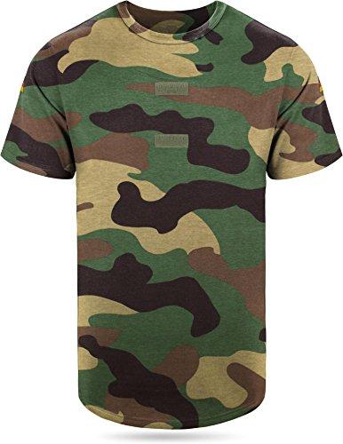 BW Tropen Unterhemd mit Klett und Nationalitätsabzeichen Bundeswehr T-Shirt Farbe Woodland Größe 9 -