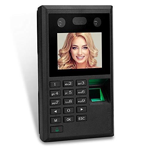 uoweky Biometrie 2,8 Zoll Farbe Bildschirm Gesicht Fingerabdruck Passwort Teilnahme Maschine Mitarbeiter einchecken Lohnbuchhaltung DC 12V Zeit Anwesenheit Uhr USB Unterstützung