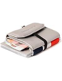 227306badd6f59 Space Wallet Pull Mini Geldbeutel aus Leder - Bis zu 15 Kreditkarten/EC- Karten im Kartenfach + Münzfach + Fach für Scheine - Handgemacht in…