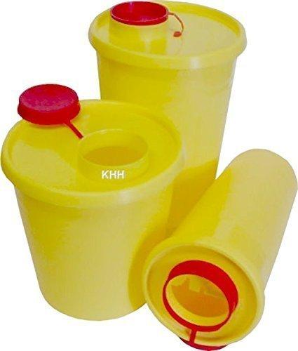 Kanülenabwurfbehälter Kanülenbox Abwurfbehälter Quickbox ver. Größen Kanülen(Größe : 2 Liter,Menge: 10x)