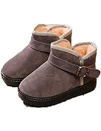 Niños Botas de Nieve otoño e Invierno niños y niñas cómodos más Terciopelo cálido bebé Zapatos Planos Zapatos bebé Zapatos de niño