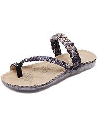 Ouneed® Damen Sandalen ,Sommer Sommer Frauen Sandalen Flip-Flops Sandy Beach Bad Kühler Hausschuhe Slip-On Schuhe Zehentrenner Beach swimming pool (40, Blau)