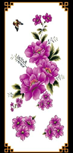 Wfq tatuaggio 1piece new fake temporary tattoo stickers 28styles violet flowers rose arm shoulder tattoo waterproof lady women big on body leg 9032