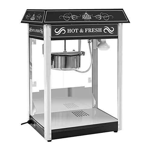 Royal Catering Machine à Popcorn Design USA Noir RCPS-16.2 (1.600W, rendement horaire 5 kg/h, 16 L/h, récipient téflon)