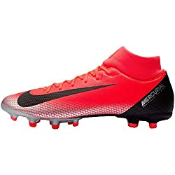 Nike Superfly 6 Academy Cr7 MG, Chaussures de Football Homme, Rouge (Bright Crimson/Black-Chrome-Da 600), 40 EU