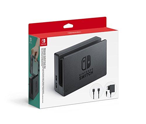 Nintendo - Dock Set Con Base Switch, Adaptador De Corriente Y Cable HD