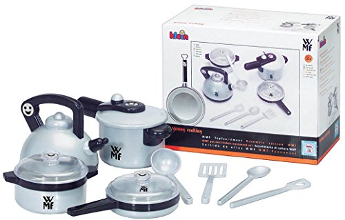 Theo Klein 9430 - WMF Topf-Set für die Kinderküche, Spielzeug (Töpfe Net Platz)