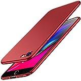 Cover iPhone 7, Cover iPhone 8, RANVOO Ultra Sottile Leggera Case Anti-impronta Antigraffio Protettiva Hard Cover Plastica Dura Shell per iPhone 7 & iPhone 8 (4,7 pollici), Rosso