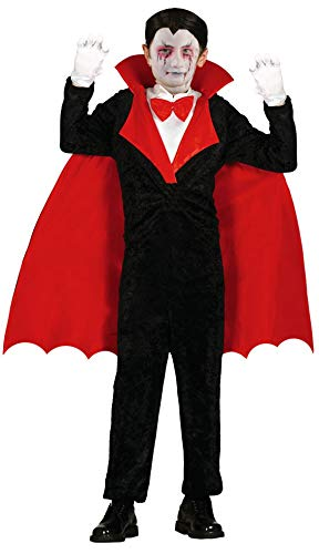 Dracula Kinder Kostüm - Foxxeo Vampir Kostüm für Kinder GRAF Dracula Umhang Jungen Cape Halloween Größe 110-116