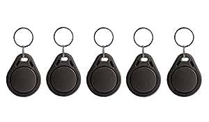 Lot de 5badges NFC Porte-clés–en plastique ABS–1024octets–Noir