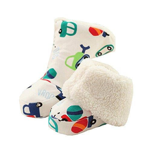 Jolies Chaussures Hiver doux bébé coton résistant Sock chaud Zoo de voitures