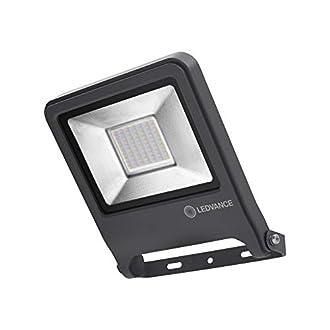 LEDVANCE Endura Flood LED | Projecteur Extérieur | Gris foncé | 50 Watts - 4000 Lumens | Blanc Chaud 3000K | Etanche IP65