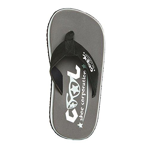 Cool Scarpe Originali Sandali Grigio Acciaio Pi Punta Calci Spiaggia Flip Flop Brutta Battuta D'Arresto - grigio acciaio, pelle scamosciata, 41/42