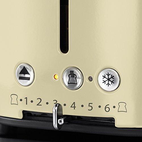 Russell Hobbs 21682-56 Retro Vintage Cream Toaster mit stylischer Countdown-Anzeige - 4