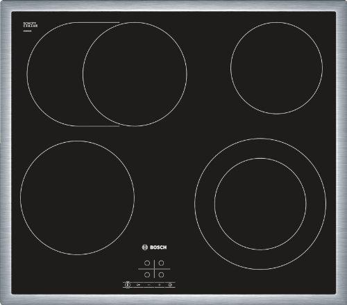 Bosch PKN645D17 Serie 4 Kochfeld Elektro / 58,3 cm / Betriebsanzeigelampe / Zonenerweiterung über separate Sensortaste / schwarz