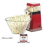 Rosenstein & Söhne Heißluft Popcornmaschine: XL-Heißluft-Popcorn-Maschine für bis zu 100 g Mais, 1.200 Watt (Popcorn-Automat)