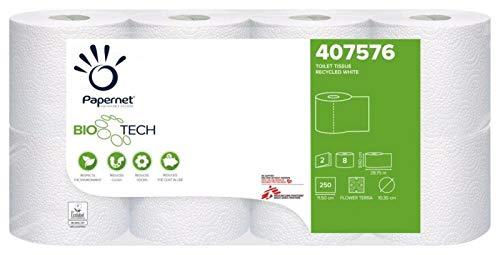 Papernet 407576 Camping Toilettenpapier 2 lagig, Camping Klopapier, Toilettenpapier für chemietoilette Boot wohnmobil Größe 8 Rollen