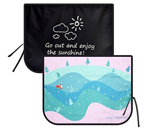 Magnetico auto tenda parasole per finestrini laterali per bambini–parasole protector–protegge dal sole riflesso e calore. blocchi di raggi uv glare–per interni auto parasole, tenda di magnete (frontbackprinted-tree)
