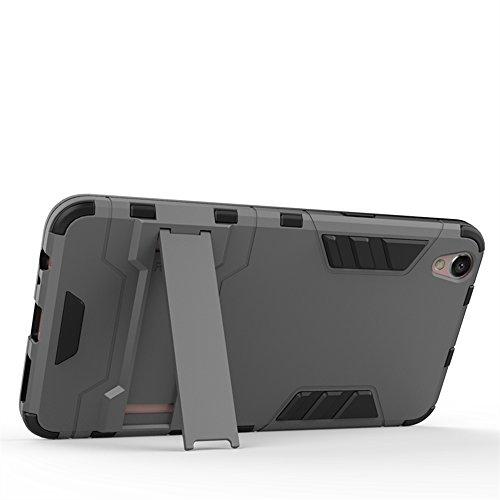 Axon 7 Hülle,EVERGREENBUYING Abnehmbare Hybrid Schein TianJi 7 Tasche Ultra-dünne Schutzhülle Case Cover mit Ständer Etui für ZTE Axon 7 Silber Silber
