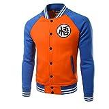 Goku Hoodie Kostüm Herren Raglan Ärmel Baseball Jacke Anime Cosplay Sweatshirt Kleidung