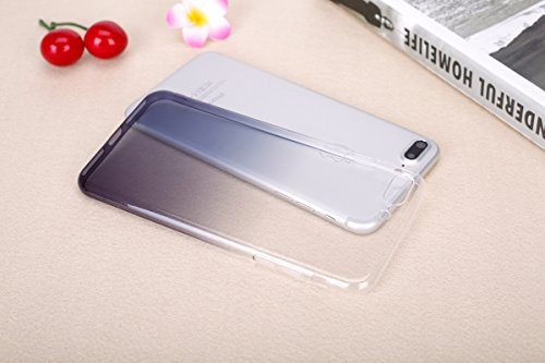 Hülle für iPhone 7 Plus, Case Cover für iPhone 7 Plus [Scratch-Resistant] , ISAKEN Ultra Slim Perfect Fit Malerei Muster TPU Silikon Clear Transparent Protective Rückseite Back Hülle Hüllen Beschützer Grau Transparent
