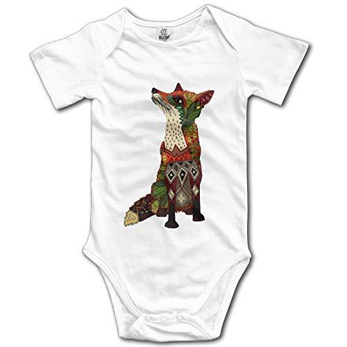 Kaixin J Fox Love Juniper Newborn Babys Boy's & Girl's Short Sleeve Bodysuit Baby Onesie for 024 Months White Favorite Short-sleeve Bodysuit