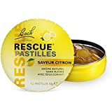 Rescue Pastilles Citron, La sérénité à portée de main, formule sans alcool, Complément alimentaire, 1 Boîte de 50 gr