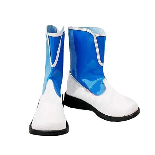 Dailygocn Rikku Stiefel PU-Leder Schuhe Anime Cosplay Kostüm Zubehör Mid-Calf Stiefel für Erwachsene Fancy ()