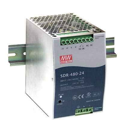 Alimentation rail DIN Mean Well SDR-480-24 20 A 480 W 1 x
