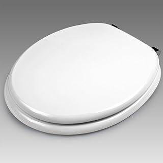 Deuba WC Toilettendeckel Absenkautomatik | Klodeckel mit Edelstahlscharnieren | Toilettensitz MDF | inkl. Montagematerial