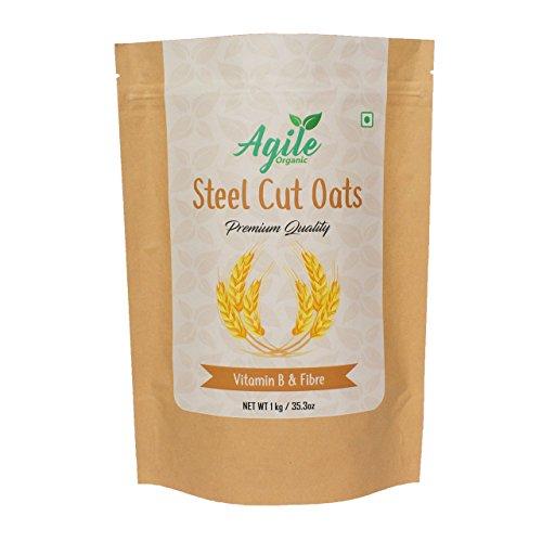 Agile Organic Authentic Steel Cut Oats, 1kg (Gluten Free)