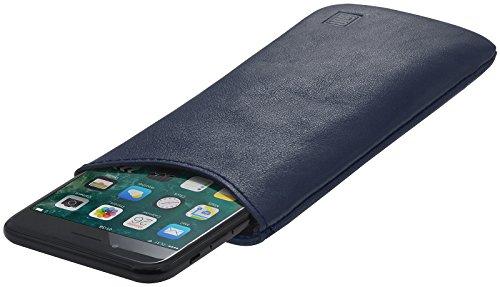StilGut Pouch, Universal-Hülle aus feinstem Nappaleder   Sleeve Handyhülle Größe L für z.B. Samsung Galaxy S7, Huawei Honor P9 Lite, Samsung S6 Edge, OnePlus X u.a, Dunkelblau Nappa