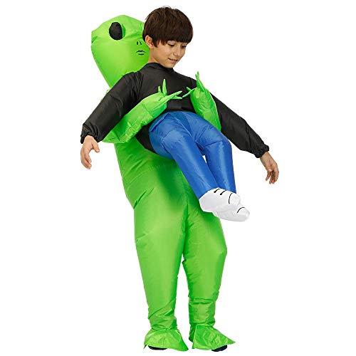 Aufblasbares Alien-Kostüm, Erwachsene, Kinder, Halloween, et Dinosaurier, Cosplay, Fantasy-Kostüm Child (Grüne Alien Kostüm Für Erwachsene)