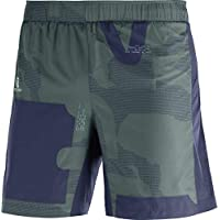 SALOMON Agile 2In1 Short M Pantalones Cortos, Hombre, Azul/Verde (Night Sky/Green Gables/Balsam Green), L