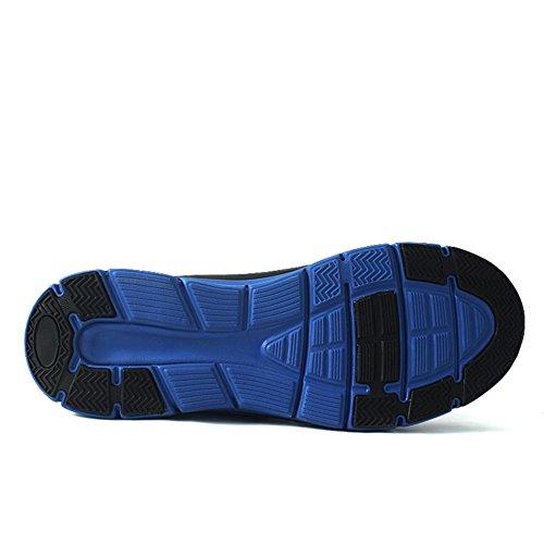 Calzature sportive Scarpe da trekking Scarpe da uomo Scarpe da corsa Ultralight Suole morbide Assorbimento degli urti traspirante Mantieni caldo Usura antiscivolo Blue