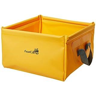 AceCamp 10 Liter Outdoor Faltschüssel, Faltbare Camping Waschschüssel aus langlebigem Vinyl, Platzsparend und Leicht, Orange, 1703