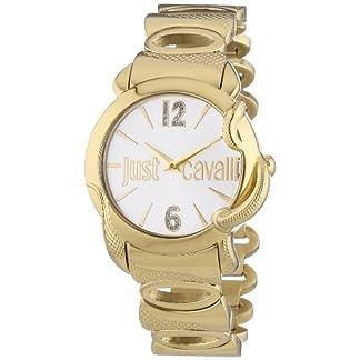 Just Cavalli 0 – Reloj de Cuarzo para Mujer, con Correa de Acero Inoxidable, Color Dorado
