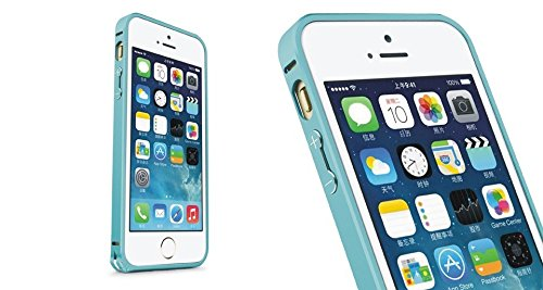 Acm Aluminum Metal Bumper For Apple Iphone 5 5g 5s Mobile Screwless Frame Case Cover- Light Blue  available at amazon for Rs.449