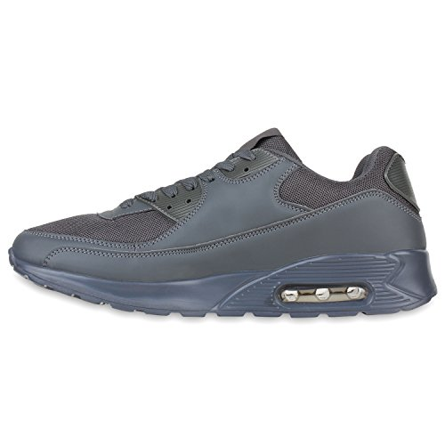 Damen Herren Unisex Sportschuhe Runners Sneakers Laufschuhe Trendfarben Grau