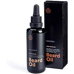 FOSTERED Bartöl mit Bio Ölen, Hochwertiges Bartpflege Öl 50 ml für einen natürlich weichen und gepflegten Bart