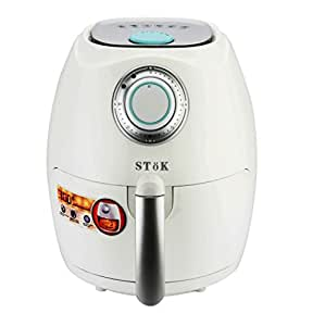 SToK Air Fryer 2.6 Litre 1350-Watt with Smart Rapid Air Technology & Double Layer Grill - (White)
