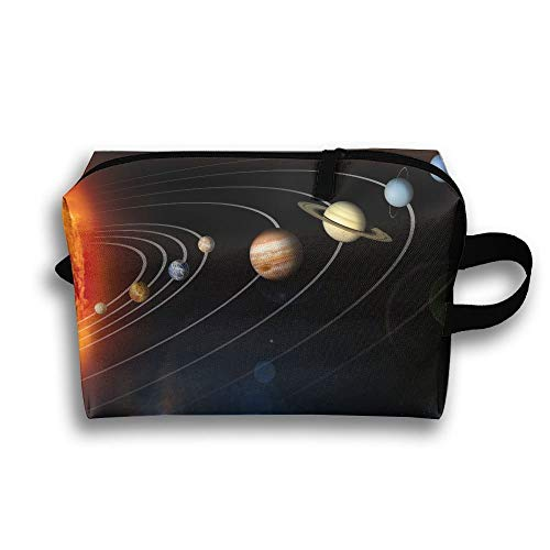 Unisex Tourist Bag Solar System PlanetsMultifunction Travel Makeup Bag With Zipper Cosmetic Pouch Bags