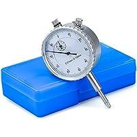 HENTEK Indicadores de marcación métrica comparador de precisión 0.01 mm, Rango 0~10 mm