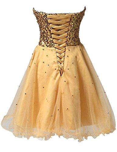 ... Fanciest Women's Sequin Homecoming Kleides Kurz Cocktail Party Kleid  Formelle Kleid White ...