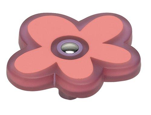 Ch Daisy (Atlas Homewares k4025-ch 2-1/2Zoll LG Pink Daisy Knauf, chrom poliert)