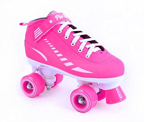 Mädchen/Damen Rollschuhe SMJ Sport PIN-UP neon pink Gr. 35,36,37,38 (38)