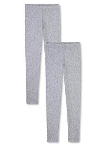 Sanetta Unterhose lang Feinripp im Doppelpack 333578 Grau (hellgrau Melange 1646), 116