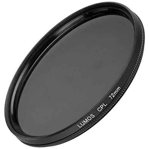 LUMOS Polfilter zirkular 72mm Slim | Kamera Objektiv CPL Pol Filter Polarisationsfilter | optisches Glas schmale Metallfassung Frontgewinde 72 mm für Tamron Sigma Panasonic Sony Canon Nikon